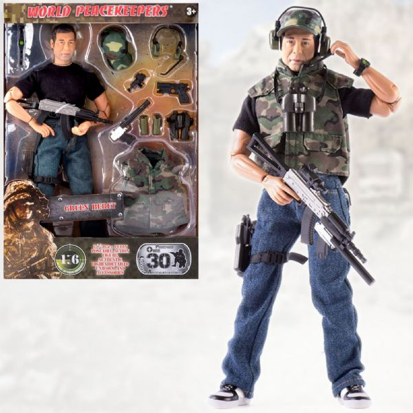World Peacekeepers Green Beret 12in Poseable Army Action Toy Figure